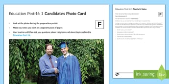 Education Post 16 1 Photo Card Foundation Tier French - Higher Education, college, French