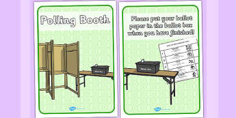 Polling Station Role Play Signs - polling, station, role-play