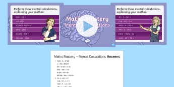 mental maths tests year 6 - - Year 6 Maths Mastery, addition, subtraction, multiplication, division, Year 6, Y6, in your head, men