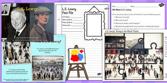 L S Lowry Significant Indviduals Resource Pack - art, artist