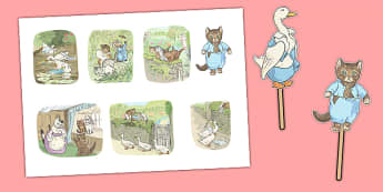 Beatrix Potter - The Tale of Tom Kitten Stick Puppets - beatrix potter, tom kitten