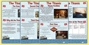 Titanic Information Sheets - titanic, history, information sheets