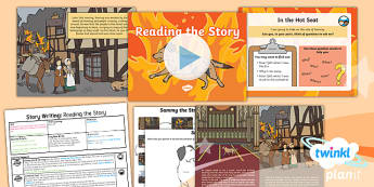 Time Travel: The Great Fire of London: Story Writing 1 Y1 Lesson Pack - Samuel Pepys, Samuel Peeps, 1666, Pudding Lane, Charles II