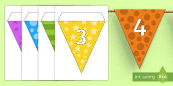 Multicolour Numbers 0-20 Display Bunting - Multicolour Numbers 0-20 Display Bunting - multicolour, alphabet, display bunting, alphabet bunting,