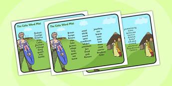 The Celts Word Mat - the celts, word mat, topic words, key words, word list, keyword, words, key word mat, themed word mat, themed word list, list of words
