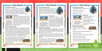 KS1 Mary Seacole Differentiated Fact File - Nurse, Jamaica, Reading, Crimean War,Heroine