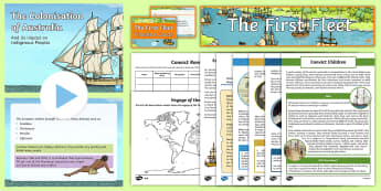 Settlement of Australia - European settlement, Literacy, European Settlement of Australia, year 3, year 4, australian curricul