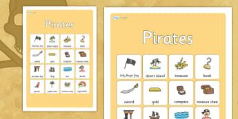 Pirates Vocabulary Poster - pirates, vocabulary, vocabulary poster, pirates poster, display poster, poster for display, classroom display, posters, display