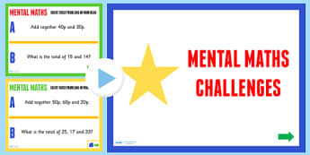 Mental Maths Challenge PowerPoint - numeracy, KS2 maths, ppt
