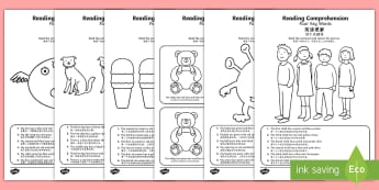 Reading Comprehension   Four Key Words Activity Sheet - English/Mandarin Chinese - Reading comprehension, information carrying words, key words, worksheet, activity sheet. EAL