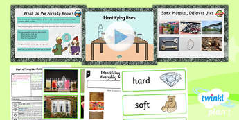 Science: Uses of Everyday Materials: Identifying Uses Year 2 Lesson Pack 1