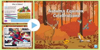 KS2 Autumn Equinox Mabon Festivals PowerPoint - Mabon, harvest, michaelmas, pagan, wiccan, christianity