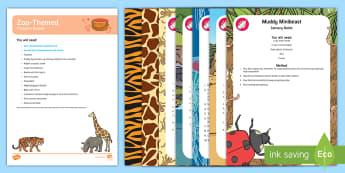 Zoo-Themed Treasure Basket Ideas - baby, babies, discovery box, discovery basket, animals, zoo, safari park, under 2s