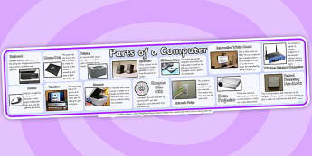 Parts of a Computer Display Banner-parts of a computer, computers, ICT, IT, display banner, computer banner, banner for display