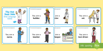 Hot Seat Jobs Oral Language Role-Play Challenge Cards - Hot, Seat, Jobs, Oral, Language ,Irish