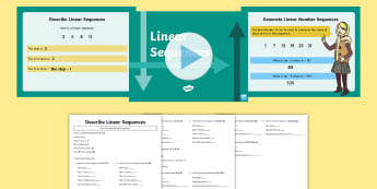 Year 6 Generate and Describe Linear Sequences Maths Resource Pack - KS2, Maths, Year 6, Y6, nth term, linear sequences, generate, describe, algebra, equation, expressio