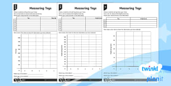 PlanIt Y3 Statistics Charts and Graphs Home Learning Tasks - Statistics, data handling, bar chart, table, measuring, measures, height, mass, homework, home learn