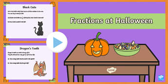 Year 3 Halloween Fractions PowerPoint