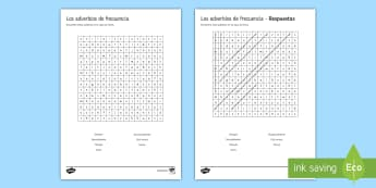 Adverbs of Frequency Word Search Spanish - KS4, Spanish, New Technologies, everyday, life, ordenador, movil, teléfono, tableta, portatil, vide