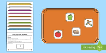 What's on the Tray? Phase 2 Memory Activity Pack - phase 2, phase two, phonics, Memory Game, dyslexic, Working Memory, Teachers of the Deaf, deaf frien