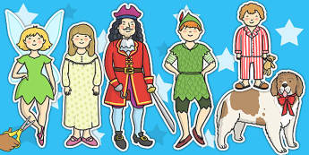 Peter Pan Stick Puppets - topic, puppets, peter pan, role play
