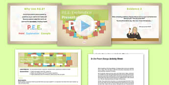 PEE Explanation Pack - PEE, comprehension, reading, answering questions, evidence, explanation, point