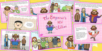 The Emperors New Clothes Story Cards - story books, stories