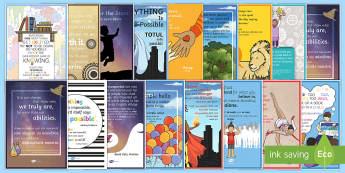 Motivational Display Posters English/Romanian - Motivational Posters Pack - motivational, posters, display, pack, inspiration, inspirational, quotes