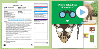 EYFS I Spy in the Zoo! Adult Input Plan and Resource Pack to Support Teaching on Dear Zoo - Dear Zoo, Rod Campbell, animals, letter to the zoo, giraffe, elephant, snake, monkey, puppy, frog, l