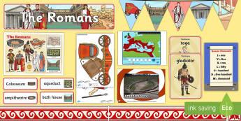 Romans Display Pack - Display Packs, Romans, history, display, Ancient Rome, civilization, KS2, discove