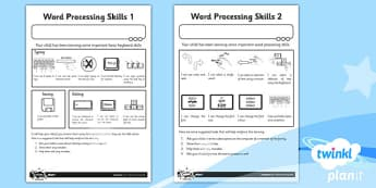 Computing: Microsoft Word Processing Skills: Year 1 Home Learning Task