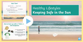 Sun Safety PowerPoint Pack - Healthy Lifestyles, SEN, sun, safety, PSHE