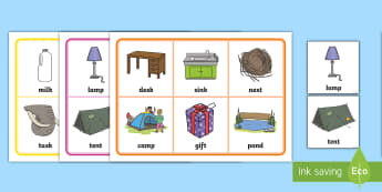 CVCC Words Bingo - consonant, blend, cluster, phonics, phase 4, letters and sounds