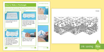 KS2 Animal Patterns Flextangle Paper Craft - jungle, elephant, paw prints, snake, tiger stripes, colouring, mindfulness