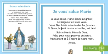 Poster : Je vous salue Marie - Religion, marie, jésus, cycle2, cycle 3