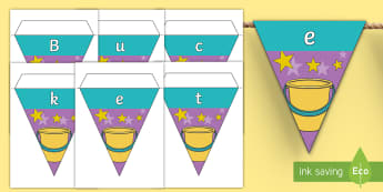 Bucket Fillers Display Bunting - Classroom Management, Reward System, How Full is Your Bucket Book, How Full is Your Bucket, Display,