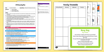 EYFS My Family Timetable Busy Bag Plan and Resource Pack