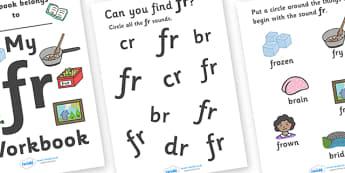 My 'fr' Letter Blend Workbook - workbook, fr, letters, blend, alphabet, activity, handwriting, blends, letter, letter blends