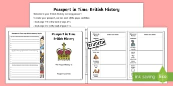 Passport in Time: British History Checklist - Timeline, Historical Periods, Learning Checklist, British Isles, Learning Journey