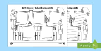 100 Days of School Writing Activity Sheet - 100 Days Of School, Yr 1, Yr 2, Foundation, writing,Australia