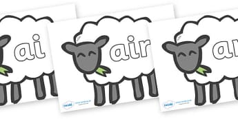 Phase 3 Phonemes on Sheep - Phonemes, phoneme, Phase 3, Phase three, Foundation, Literacy, Letters and Sounds, DfES, display