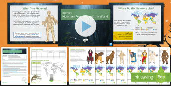 Biomes: Monsters from around the World Lesson Pack - Halloween, KS3, Geography, Biomes, World, Map, Atlas, monster, characteristics