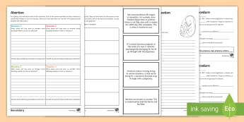 Abortion Activity Pack - Abortion, Sanctity of Life, Abortion Law, Embryo, Foetus, Pro-life, Pro-choice