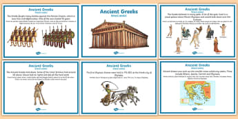 Ancient Greece Display Fact Posters Romanian Translation - romanian, ancient greece, display, fact posters