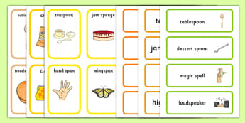 Pack Word SP Cards - pack, word, sp, sp sound, word cards, sp cards, sp words