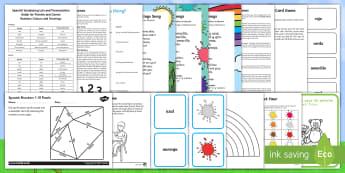 KS1 Summer Fun in the Holidays: Learn Spanish Activity Pack - language games, language activities, Spain, spanish colours, spanish numbers, greetings,