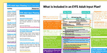 EYFS Adult Input Planning and Resource Pack to Support Teaching on Jasper's Beanstalk Overview - EYFS planning, Early Years Planning, plants, growth, Mick Inkpen, Nick Butterworth