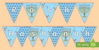 Rosh Hashanah  Display Bunting - jewish, judaism, festival, forgiveness, september,
