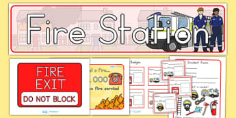 Fire Station Role Play Pack - fire fighter, emergancy services