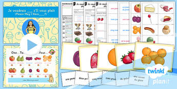 French: Food, Glorious Food!: Please May I Have Year 3 Lesson Pack 2